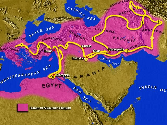 Alexander's conquest of the Persian empire
